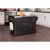 Black Finish Wood, Stainless Steel Top Situational View 1