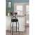 """Hillsdale Furniture Stockport Swivel Bar Height Stool, Pewter, 19-1/8""""W x 17""""D x 44-1/2""""H"""