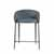 """Hillsdale Furniture Cromwell Metal Counter Height Stool, Blue Velvet, 23""""W x 24-1/4""""D x 34-1/4""""H"""