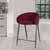 "Hillsdale Furniture Cromwell Metal Counter Height Stool, Burgundy Velvet, 23""W x 24-1/4""D x 34-1/4""H"