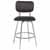 Counter Stool, Chrome, Front View