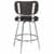 Counter Stool, Chrome, Back View