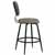 Counter Stool, Black, Side View