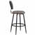 Bar Stool, Black, Side View