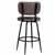 Bar Stool, Black, Back View