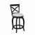 "Hillsdale Furniture Ellendale Swivel Counter Height Stool, Black , 17-1/2""W x 21""D x 39""H"