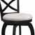 "Hillsdale Furniture Ellendale Swivel Bar Height Stool, Black , 17-1/2""W x 21""D x 44-1/2""H"