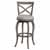 "Hillsdale Furniture Ellendale Swivel Bar Height Stool, Aged Gray, 17-1/2""W x 21""D x 44-1/2""H"