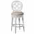 "Hillsdale Furniture Savona Swivel Bar Height Stool, White, 23""W x 19""D x 48""H"