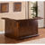 Hillsdale Furniture Classic Collection Large Bar with Side Bar in Brown Cherry, 26-1/2'' W x 78'' D x 43'' H