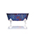 New Square Cast Iron Clawfoot Bathtub Trompe L'Oeil Antiqued Lagniappe Freestanding Claw Tub Package, Degas Blue