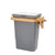 """Rev-A-Shelf Single Door Mount Vanity Waste Container, 8 Quart (2 Gallon) Metallic Silver Bin with Maple Frame, for 30"""" Vanity Base Cabinets"""