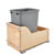 Single Bin Waste Container with Blum's TANDEM Heavy Duty Slides with BLUMOTION Soft Close