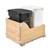 Rev-A-Shelf Double Soft-Close Bottom Mount Recycle Center With (1) Black Compo+ Container and (1) 35 Qt. White Bin, Wood Bottom Mount with Blum Slides