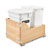 Rev-A-Shelf Double Soft-Close Bottom Mount Recycle Center With (1) White Compo+ Container and (1) 35 Qt. White Bin, Wood Bottom Mount with Blum Slides