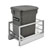 Rev-A-Shelf Single Orion Gray Compo+ Bin Pull-Out with Rear Storage, Aluminum Bottom Mount with Soft-Close Slides