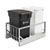Rev-A-Shelf Double Soft-Close Bottom Mount Recycle Center With (1) Black Compo+ Container and (1) 35 Qt. White Bin, Pull-Out Aluminum Carriage