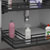 Rev-A-Shelf Undersink Pullout U-Shaped Wire Basket Shelf, Orion Gray Flat Wire Frame with Textured Linen Solid Bottom