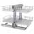 Rev-A-Shelf Pullout Soft-Close 2-Tier Wire Bottom Mount Blind Corner Organizer, with Gray Solid Bottom