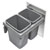 Rev-A-Shelf Double Bin Trash Pullout, Gray Cans with Steel Lid