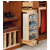 Rev-A-Shelf Pivoting Armoire Storage Organizer with Mirror