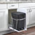 Rev-A-Shelf Single Black Compo+ Bin Pull-Out with Rear Storage, White Wire Bottom Mount with Ball Bearing Slides