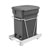 Rev-A-Shelf Single Orion Gray Compo+ Bin Pull-Out with Rear Storage, White Wire Bottom Mount with Ball Bearing Slides