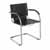 "Safco Flaunt Guest Chair, Black Leather, 21-/2""W x 23""D x 31-3/4""H"