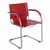 "Safco Flaunt Guest Chair, Red Leather, 21-/2""W x 23""D x 31-3/4""H"