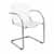 "Safco Flaunt Guest Chair, White Leather, 21-/2""W x 23""D x 31-3/4""H"