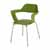 """Safco Bandi™ Shell Stack Chair, Green, 23-3/4""""W x 19""""D x 31""""H - Set of 2 Chairs"""