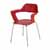 """Safco Bandi™ Shell Stack Chair, Red, 23-3/4""""W x 19""""D x 31""""H - Set of 2 Chairs"""