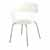 """Safco Bandi™ Shell Stack Chair, White, 23-3/4""""W x 19""""D x 31""""H - Set of 2 Chairs"""