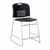"Safco Vy™ Counter Height Sled Base Chair, Black, 18""W x 22""D x 40""H"