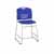 "Safco Vy™ Counter Height Sled Base Chair, Blue, 18""W x 22""D x 40""H"