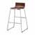 "Safco Bosk® Bistro Height Stool, Cherry, 20-3/4""W x 20-1/2""D x 35""H"