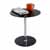 "Safco Glass Accent Table, Black, 17-1/2""W x 17-1/2""D x 19""H"