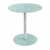 "Safco Glass Accent Table, White, 17-1/2""W x 17-1/2""D x 19""H"