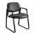 "Safco Cava® Urth™ Sled Base Guest Chair, Black Vinyl, 22-1/2""W x 24""D x 32-1/2""H"
