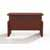 """Safco Aberdeen® Height-Adjustable Bow Front Desk with Base, Cherry TF Laminate, 66""""W x 42""""D x 29-1/2"""" to 47-3/4""""H"""