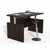 """Safco Aberdeen® Height-Adjustable Bow Front Desk with Base, Mocha TF Laminate, 66""""W x 42""""D x 29-1/2"""" to 47-3/4""""H"""