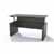 Safco Medina™ Height-Adjustable Straight Front Desk, Gray Steel Laminate