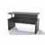 Safco Medina™ Height-Adjustable Straight Front Desk, Gray Steel Laminate
