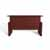 Safco Medina™ Height-Adjustable Straight Front Desk, Mahogany Laminate