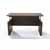 Safco Medina™ Height-Adjustable Straight Front Desk, Textured Brown Sugar Laminate