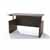 Safco Medina™ Height-Adjustable Straight Front Desk, Textured Brown Sugar Laminate