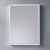 "Dawn Sinks Vertical LED Backlit Wall Mount High Gloss Aluminum Mirror with Illuminated Frame, 23-5/8"" W x 1-3/16"" D x 31-1/2""H"