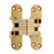 SOS-418US Invisible Hinge, Satin Brass