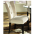 Steve Silver Beige Matinee Parsons Chair, Microfiber Seat and Black Legs