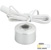 """Task Lighting Round Mini Series 1-3/16"""" Diameter Brushed Aluminum Puck Light with Frosted, Light Diffusing Lens, Cool White 4000K, 1-3/16"""" Diameter x 7/8"""" H"""